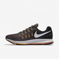 Nike Air Zoom Pegasus 33 Dark Grey/Black/Bright Citrus/White Mens Running Shoes