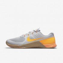 Nike Metcon 2 Wolf Grey/Gum Medium Brown/Bright Citrus Mens Training Shoes