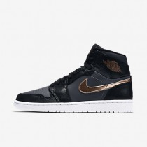 Nike Air Jordan I Retro High Black/Dark Grey/White/Metallic Red Bronze Mens Shoes