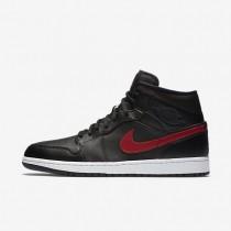 Nike Air Jordan 1 Mid Black/Team Red/White/Team Red Mens Shoes