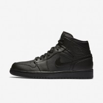 Nike Air Jordan 1 Mid Black/White Mens Shoes