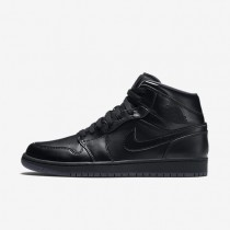Nike Air Jordan 1 Mid Black/Dark Grey/Black Mens Shoes