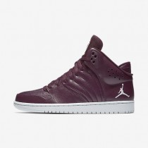 Jordan 1 Flight 4 Night Maroon/Pure Platinum Mens Shoes