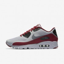 Nike Air Max 90 Ultra Essential Wolf Grey/Black/Team Red/Dark Grey Mens Shoes
