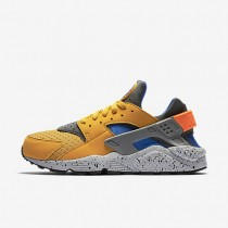 Nike Air Huarache SE Gold Leaf/Hyper Cobalt/Anthracite/Hyper Cobalt Mens Shoes