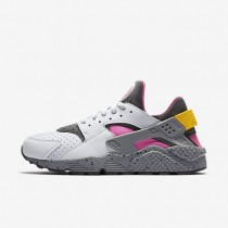 Nike Air Huarache SE Pure Platinum/Pink Blast/Dark Grey/Pink Blast Mens Shoes