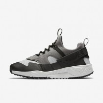 Nike Air Huarache Utility Base Grey/Medium Base Grey/Black/Light Ash Grey Mens Shoes