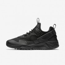 Nike Air Huarache Utility Black/Black/Black Mens Shoes
