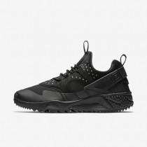 Nike Air Huarache Utility Black/Black/Black Mens Shoes