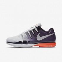 Nike Court Zoom Vapor 9.5 Tour Pure Platinum/Purple Dynasty/Total Crimson/Metallic Silver Mens Tennis Shoes