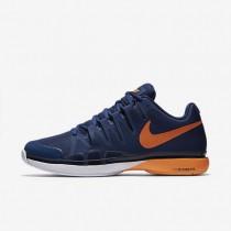 Nike Court Zoom Vapor 9.5 Tour Coastal Blue/White/Bright Citrus Mens Tennis Shoes