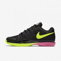 Nike Court Zoom Vapor 9.5 Tour Black/Pink Blast/Volt Mens Tennis Shoes