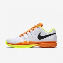 Nike Court Zoom Vapor 9.5 Tour White/Volt/Total Orange/Black Mens Tennis Shoes