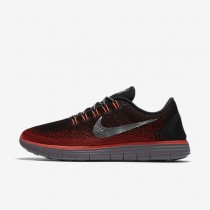Nike Free RN Distance Shield Black/Team Red/Bright Crimson/Metallic Silver Mens Running Shoes