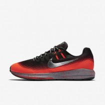 Nike Air Zoom Structure 20 Shield Black/Bright Crimson/Stealth/Metallic Silver Mens Running Shoes