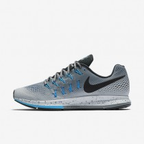 Nike Air Zoom Pegasus 33 Shield Cool Grey/Wolf Grey/Blue Glow/Black Mens Running Shoes