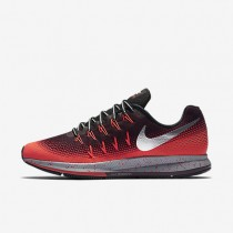 Nike Air Zoom Pegasus 33 Shield Night Maroon/Bright Crimson/Black/Metallic Silver Mens Running Shoes