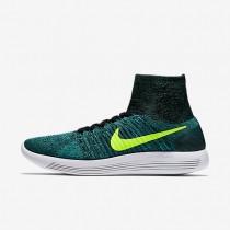 Nike LunarEpic Flyknit Green/Fluo Mens Running Shoes