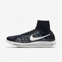 Nike LunarEpic Flyknit Black/Blue Glow/Green Glow/Summit White Mens Running Shoes