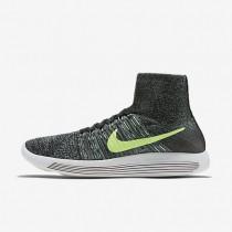 Nike LunarEpic Flyknit Black/Hasta/Enamel Green/Ghost Green Mens Running Shoes
