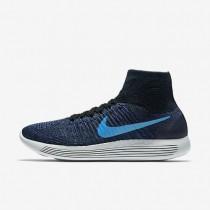 Nike LunarEpic Flyknit Black/Dark Purple Dust/Star Blue/Blue Glow Mens Running Shoes