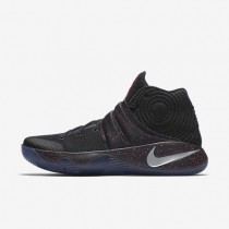Nike Kyrie 2 Black/Bright Crimson/Metallic Silver Mens Basketball Shoes