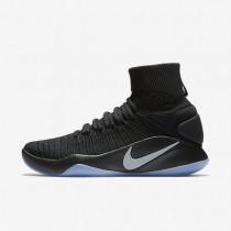 Nike Hyperdunk 2016 Flyknit Black/Metallic Platinum Mens Basketball Shoes