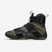 Nike Zoom LeBron Soldier 10 SFG Black/Medium Olive/Bamboo Mens Basketball Shoes