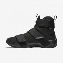 Nike Zoom LeBron Soldier 10 Black/Black Mens Basketball Shoes