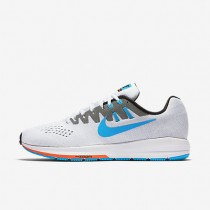 Nike Air Zoom Structure 20 (Anniversary) White/Black/Hot Lava/Blue Lagoon Mens Running Shoes