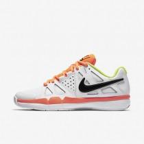 Nike Court Air Vapor Advantage Carpet White/Volt/Total Orange/Black Mens Tennis Shoes