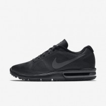 Nike Air Max Sequent Black/Black/Dark Grey Mens Running Shoes