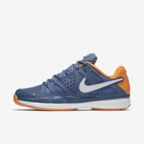 Nike Court Air Vapor Advantage Ocean Fog/Bright Citrus/White Mens Tennis Shoes