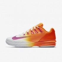 Nike Court Lunar Ballistec 1.5 Bright Citrus/White/Total Orange/Fire Pink Mens Tennis Shoes
