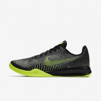 Nike Kobe mentality 2 Black/Wolf Grey/Volt Mens Basketball Shoes