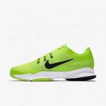 Nike Court Air Zoom Ultra Clay Volt/White/Black Mens Tennis Shoes