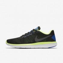 Nike Flex 2016 RN Black/Ghost Green/White/Metallic Dark Grey Mens Running Shoes