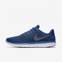 Nike Flex 2016 RN Coastal Blue/Star Blue/Hyper Cobalt/Metallic Cool Grey Mens Running Shoes