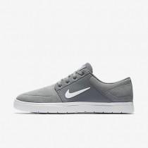 Nike SB Portmore Vapor Cool Grey/White Mens Skateboarding Shoes