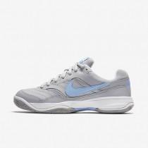 Nike Court Lite Stealth/White/Fountain Blue Mens Tennis Shoes