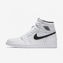 Nike Air Jordan 1 Retro High OG White/White/Black Mens Shoes