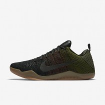 Nike Kobe XI Elite Low 4KB Black/Rough Green/Team Red Mens Basketball Shoes