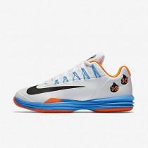 Nike Court Lunar Ballistec 1.5 Legend White/Total Orange/Blue Glow/Black Mens Tennis Shoes