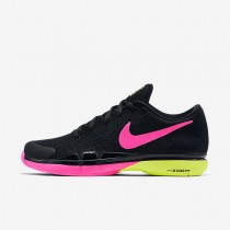 Nike Court Zoom Vapor 9.5 Flyknit Black/Pink Blast/Volt Mens Tennis Shoes