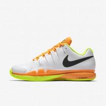 Nike Court Zoom Vapor 9.5 Tour Clay White/Volt/Total Orange/Black Mens Tennis Shoes