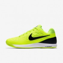 Nike Court Zoom Cage 2 Volt/White/Black Mens Tennis Shoes