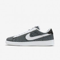 Nike Court Classic Jacquard Black/Black/Blue Glow/White Mens Shoes