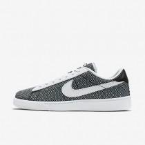 Nike Court Classic Jacquard Black/Black/Blue Glow/White Mens Shoes