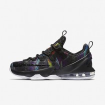 Nike LeBron XIII Low Black/White/Volt/Cosmic Purple Mens Basketball Shoes