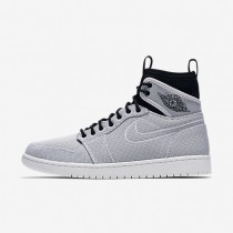 Nike Air Jordan 1 Retro Ultra High White/Black/Pure Platinum/Metallic Gold Coin Mens Shoes